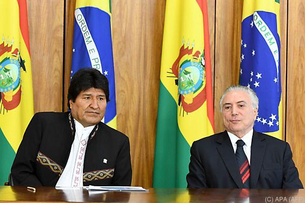 Präsidententreffen mit Evo Morales und Michel Temer