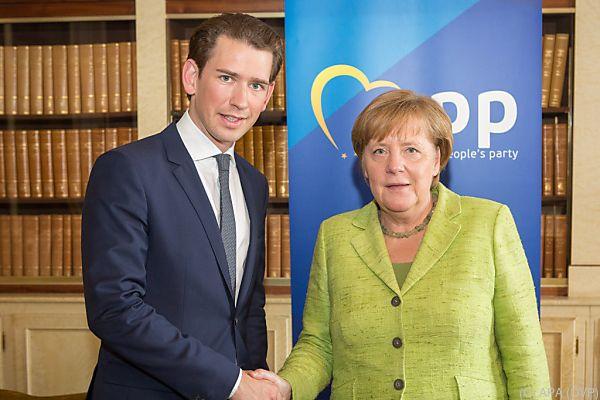 Kurz freut sich auf Zusammenarbeit mit Merkel