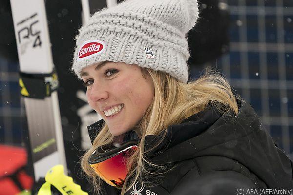 Slalom-Seriensiegerin Mikaela Shiffrin erobert die Abfahrt
