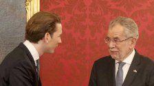 Zum Stand der Koalition: Kurz trifft Van der Bellen
