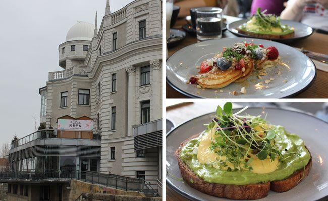 Im Klyo kann man das proteinreiche Frühstück mit Blick auf den Wiener Donaukanal genießen.