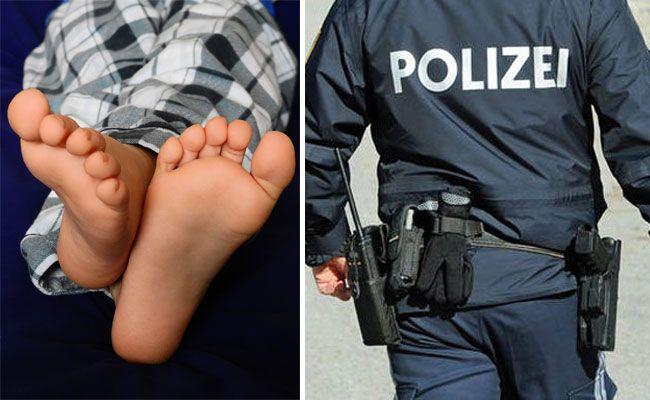 Ein mutmaßlicher Einbrecher lag ohne Schuhe und Socken im Vorzimmer der Wohnung