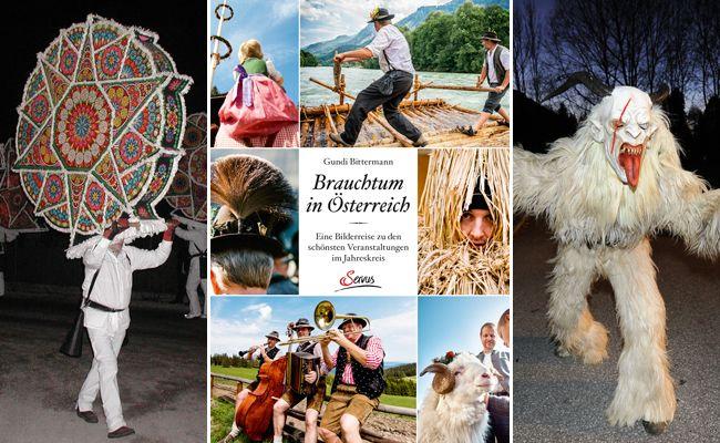 Im Buch werden die schönsten Bräuche Österreichs im Jahreskreis vorgestellt.