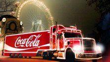 Wintermarkt im Prater mit Cola-Weihnachtstruck