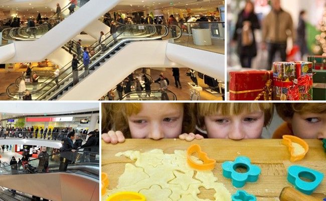 Die Einkaufszentren der Stadt bieten ein buntes Kinderprogramm im Advent.