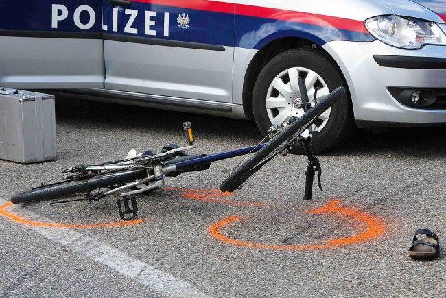 Ein Fahrradunfall ereignete sich am Donnerstag in Wien-Donaustadt.