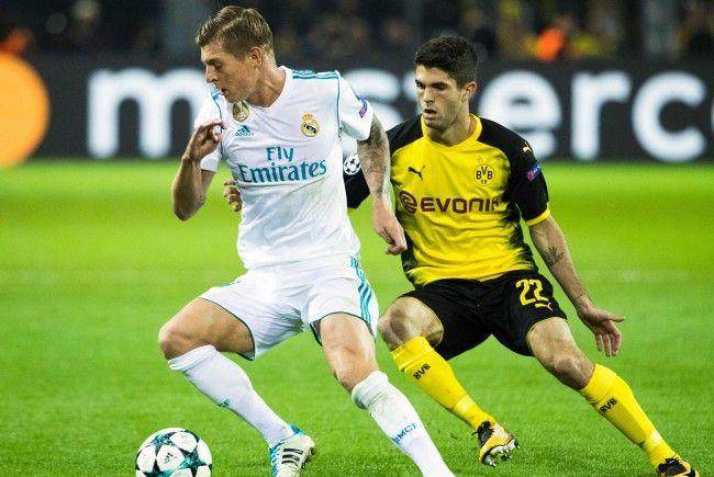 Hier sehen Sie das Match zwischen Real Madrid und Borussia Dortmund.