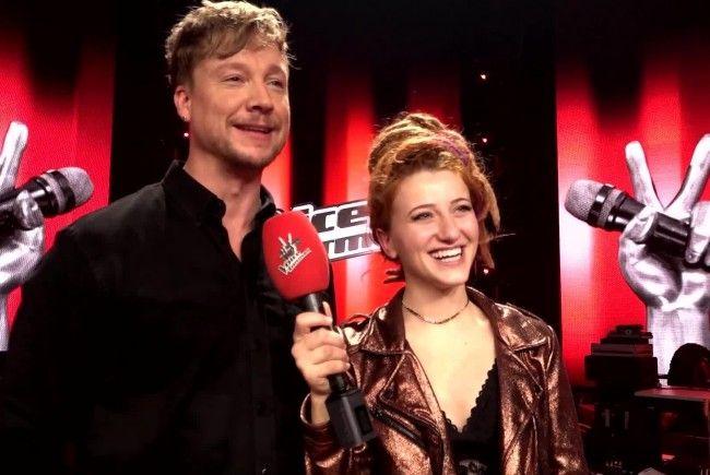 Samu Haber mit Natia, Gewinnerin von The Voice of Germany 2017.