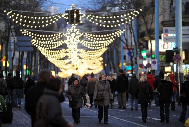 Die Österreicher lassen sich Weihnachten einiges kosten.