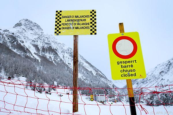 Lawinengefahr in weiten Teilen der Alpen