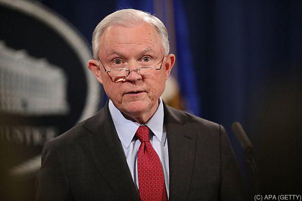 Sessions war Mitglied von Trumps Wahlkampfteam