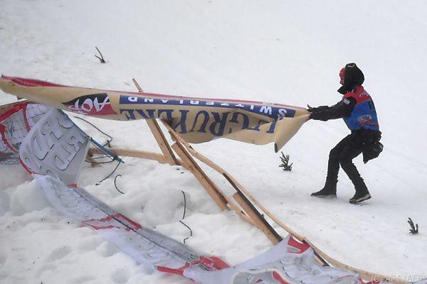 Der Sturm verhinderte ein reguläres Rennen