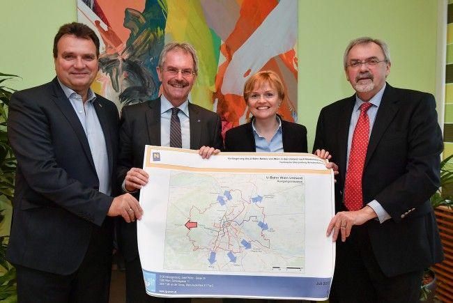 Der Ausbau der U4 nach Niederösterreich wird untersucht.