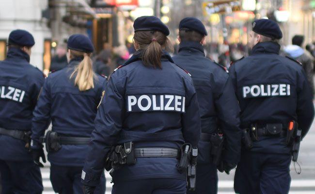Die anwesenden Polizisten mussten bei der Kundgebung einschreiten.