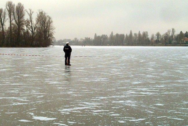 Die beiden Buben brachen 2004 in das Eis der Alten Donau ein.