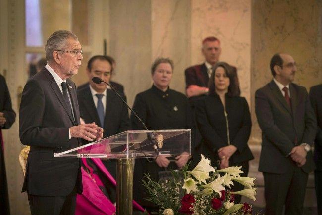 Bundespräsident Alexander Van der Bellen beim Neujahrsempfang für das Diplomatische Corps in Wien
