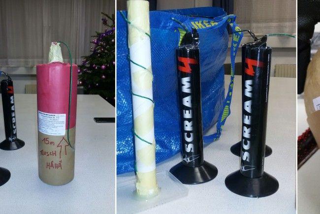Einige der sichergestellten Gegenstände aus der Silvesternacht