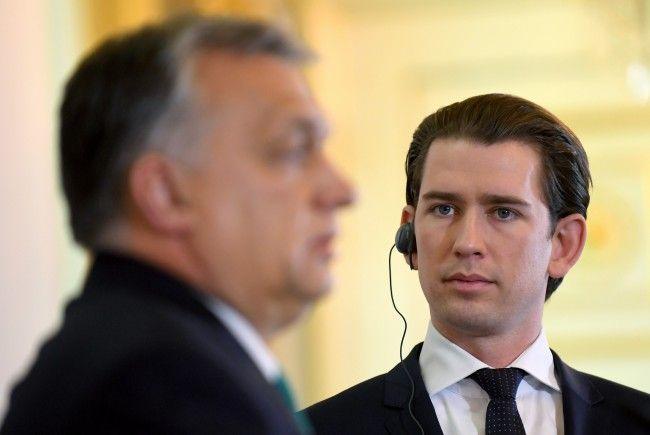 Kanzler Kurz traf sich mit Viktor Orbán in Wien