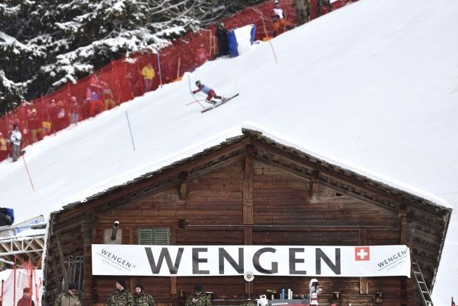 Sturmböen, Regen und Schnee in Wengen - Für Mittwoch und Donnerstag sind weitere Trainings angesetzt.