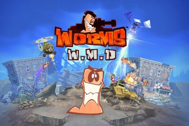 """""""Worms W.M.D."""" von Team17 - Multiplayer-Spaß für bis zu sechs Spieler."""