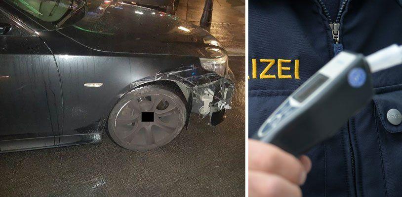Alkolenker beschädigte mehrere Autos in Wien-Neubau: Verfolgungsjagd mit Polizei