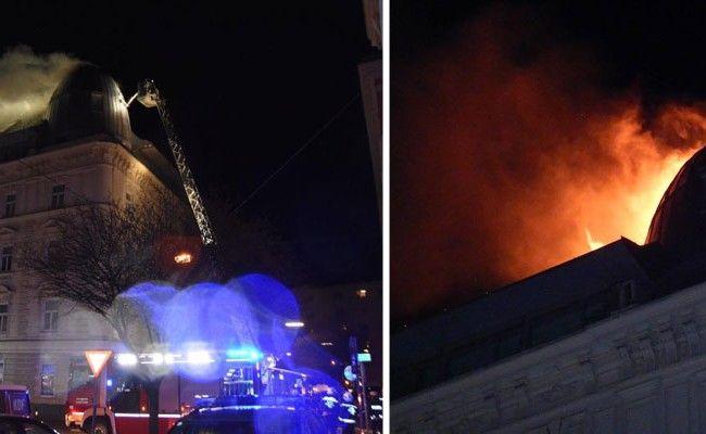 Die Feuerwehr bekämpfte die ganze Nacht die Flammen.