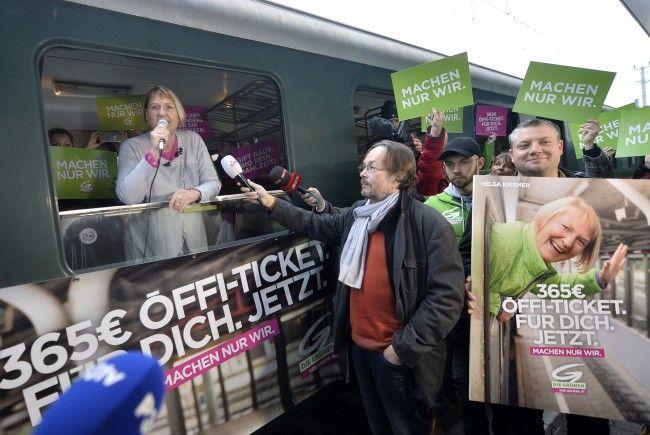Die Grünen können bei der Landtagswahl besonders mit Stimmen aus dem Wiener Umland rechnen.