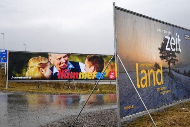 Das sind die Ziele, Chancen und Ausgangslage der Parteien vor der Landtagswahl in NÖ 2018.