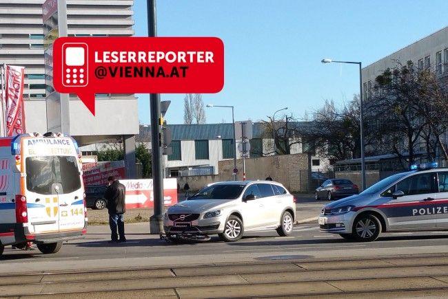 In Wien-Floridsdorf kam es am Dienstag zu einem weiteren Unfall zwischen Radfahrer und Autolenker.