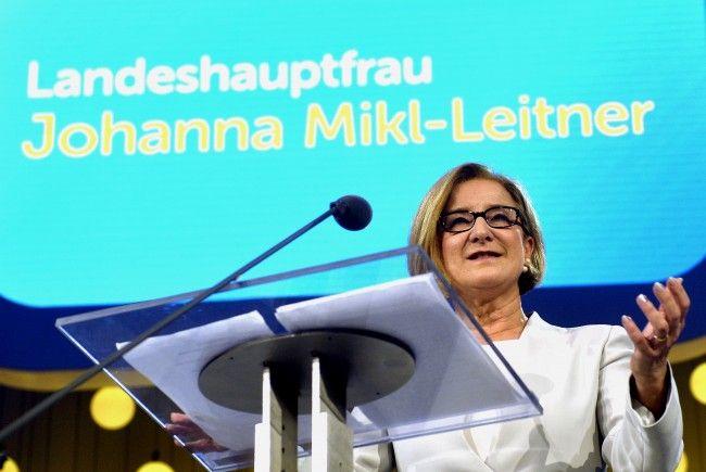ÖVP-Spitzenkandidatin der NÖ Wahl: Johanna Mikl-Leitner.