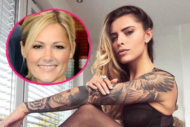 Ob Sophia Thomalla wohl bald ein Helene Fischer-Tattoo hat?