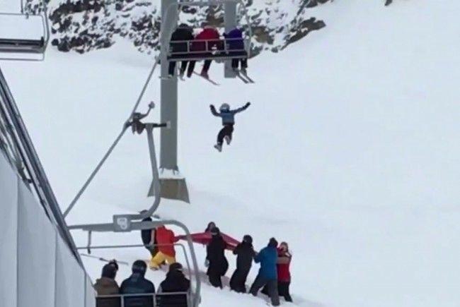 Unglaubliche Rettung eines jungen Skifahrers.