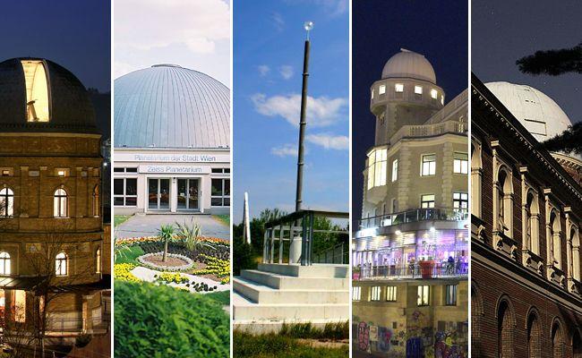Bei gleich mehreren Sternwarten und Planetarien kann man in Wien in die Sterne schauen.