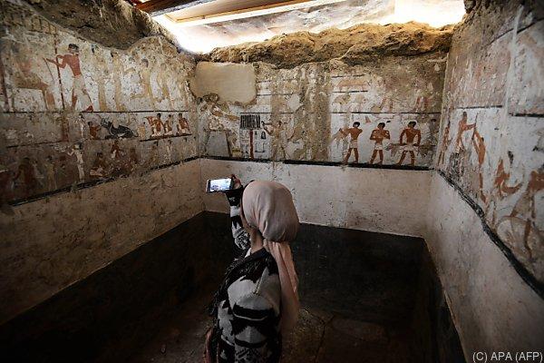 Grabkammer enthält zahlreiche Zeichnungen