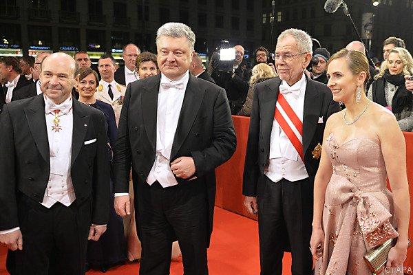 Direktor Meyer mit Poroschenko und Van der Bellen