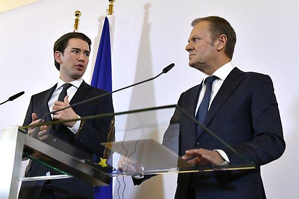 EU-Ratspräsident Tusk traf Bundeskanzler Kurz
