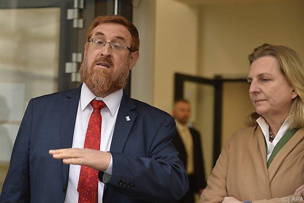 Glick traf Österreichs Vizekanzler und Außenministerin