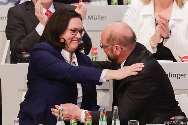 Schulz hat Nahles als seine Nachfolgerin vorgeschlagen