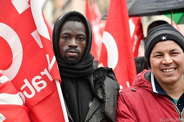 Der Protest richtete sich gegen Faschismus und Rassismus