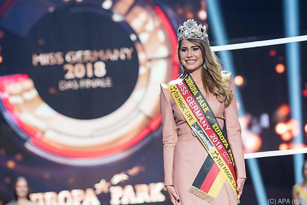 """Anahita Rehbein kurz nach der Wahl zur """"Miss Germany 2018"""""""