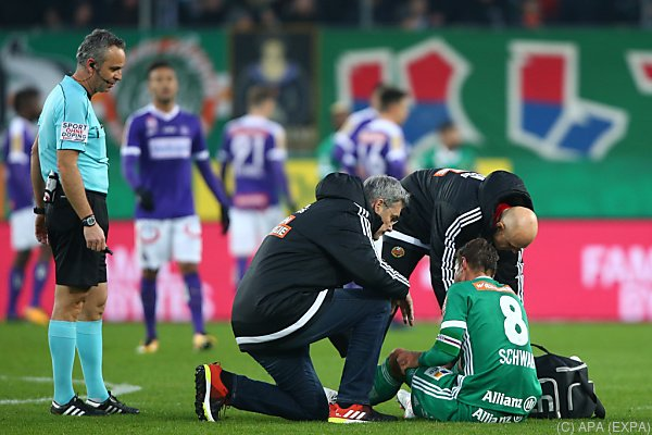 Stefan Schwab verletzte sich im Wiener Derby