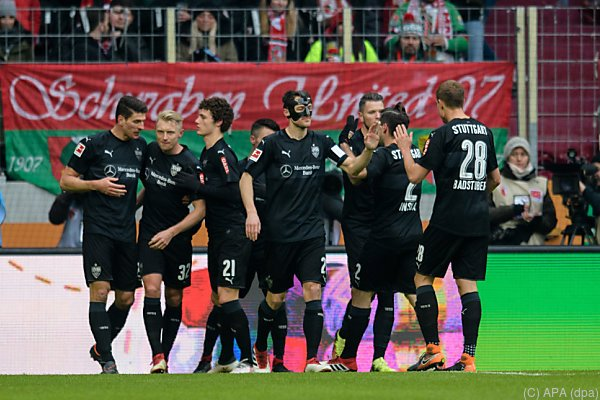 Jubel bei den VfB-Spielern