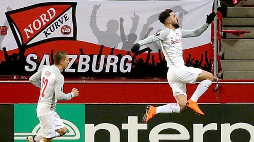 Salzburg nach 2:1 gegen Real Sociedad im EL-Achtelfinale