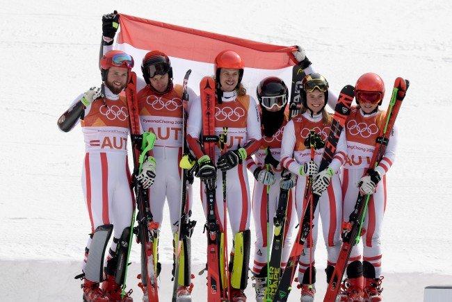 Österreich holt bei Olympia-Premiere des alpinen Ski-Mixed-Teambewerbs Silber