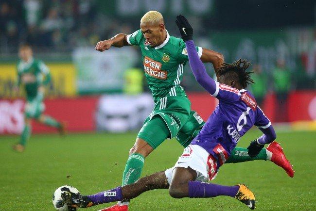 Das Wiener Derby im Allianz-Stadion endete 1:1.