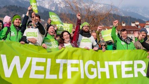 Wahlkampfabschluss der Grünen: 'Jetzt oder nie mehr Grün in Tirol'
