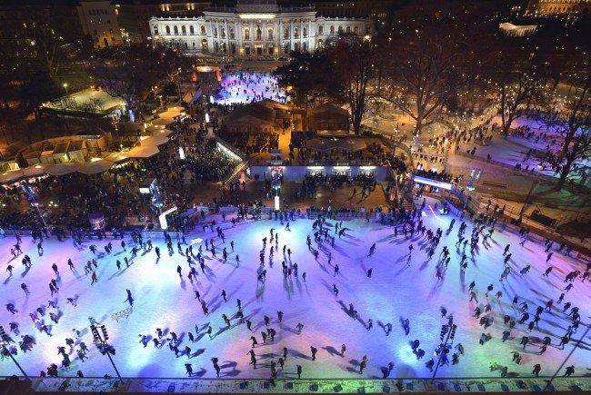 Am 4. März wird beim Wiener Eistraum wieder zum Gratis-Eislaufen geladen.