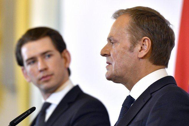 """Die """"destruktiven Emotionen"""" rund um das EU-Umsiedelungsprogramm müssten laut Tusk """"ein Ende finden""""."""