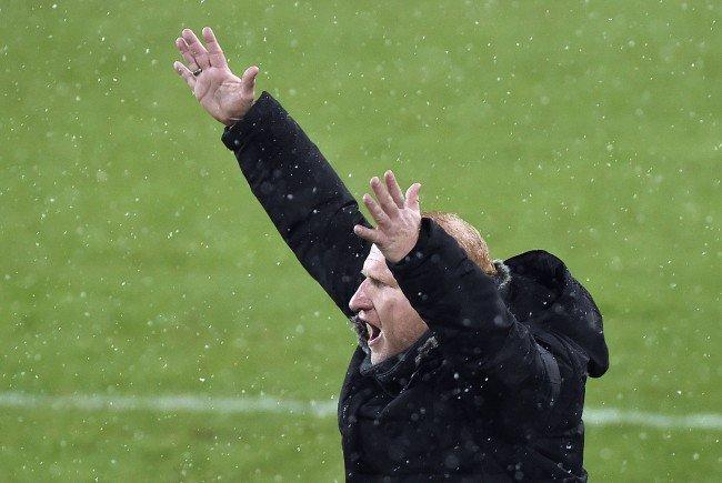 Sturm-Trainer Heiko Vogel zeigte Emotionen im Spiel gegen Rapid Wien.
