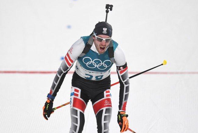 Landertinger holte sich beim Biathlon-Einzel die Bronze-Medaille.